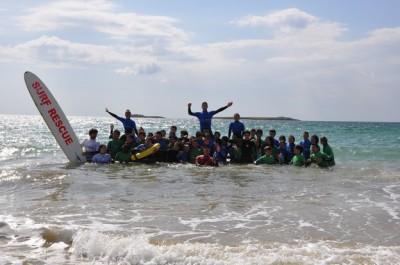 Sauveteurs pour un stage ocean avec le lycee ARAGO de Nation - Paris cohesion à Auray