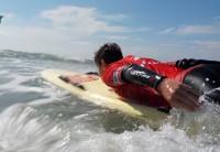 Killian faisant du paddle board - sauveteur