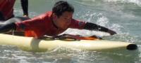 Mathis faisant du paddle