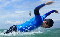 Pierre faisant du dolphin - sauveteur