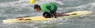 Thibault faisant du paddle